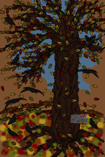 Autumn Tree - for ubeta\'s ~ #LotsofDnD #autumn