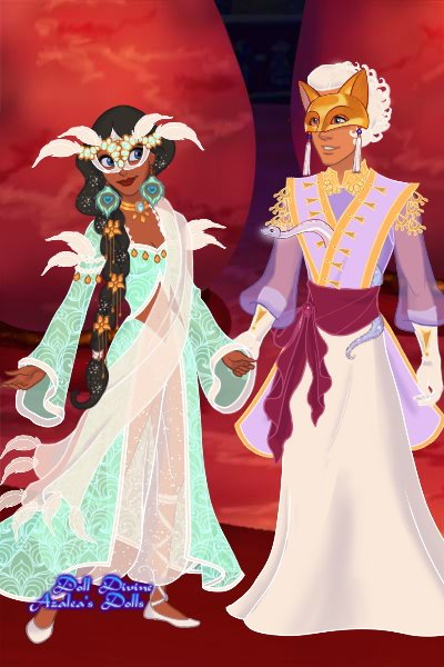Asra and Undine ~ From the game The Arcana: The magician A