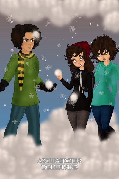 It\'s Christmas Eve!!!:D ~ Snowball fight:D This is me my sis and m