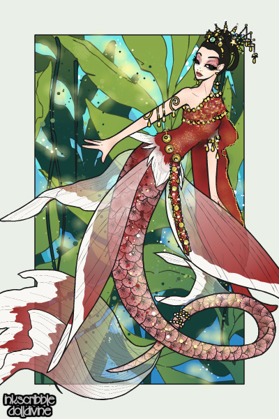 Pla-kad ~ I made this mermaid in the stlye of a Re