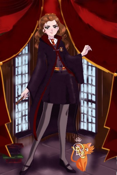 Hermione Granger ~ Hermione from Harry Potter standing in t
