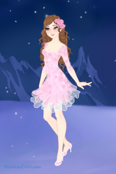 Winter Blossoms ~ This dress is based on a dress that one