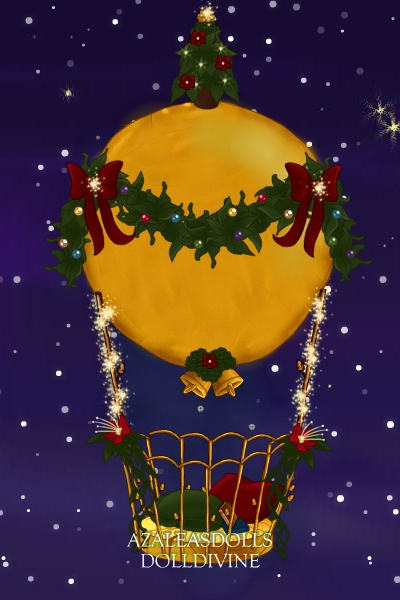 Merry Christmas saphiX! ~ A christmassy balloon for the hot air ba
