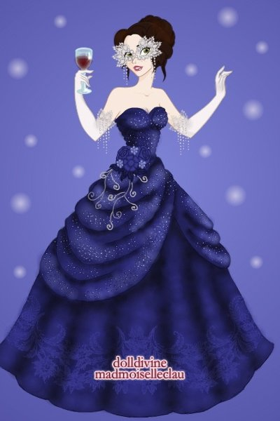 A Masquerade in Blue ~ My gown, for @bluesmooth127's birthday m