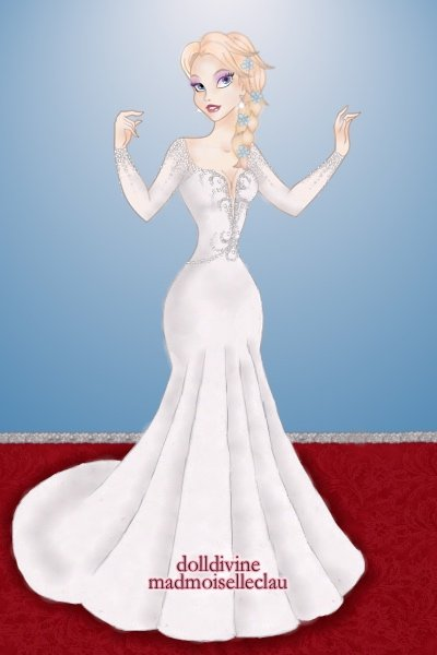 Elsa on the Red Carpet (Remake - version ~ A remake of the <a href=http://www.dolld
