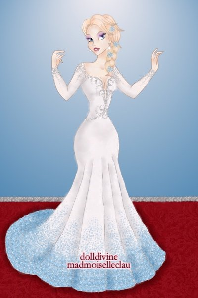 Elsa on the Red Carpet (Remake) ~ A remake of the <a href=http://www.dolld