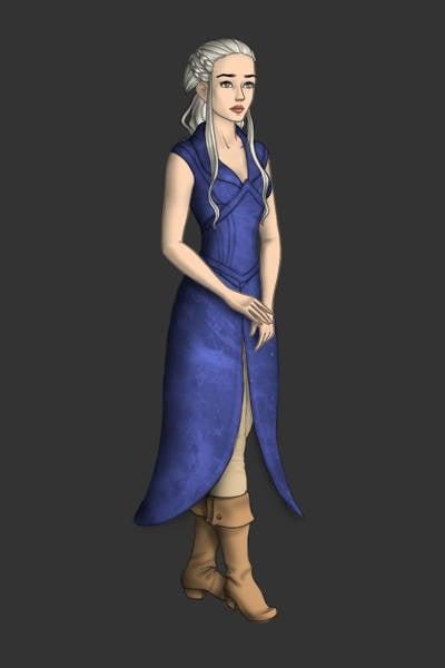 Daenerys Targaryen Season 3 Blue Dress