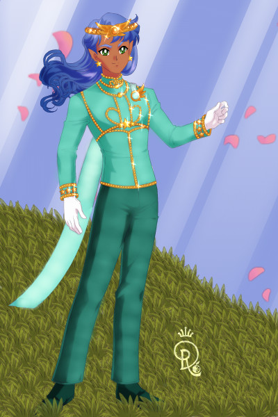 Prince Azuul ~ Looking all spiffy and shiny in sea gree