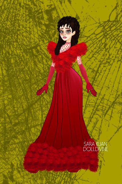 Lydia deetz wedding dress by figpeep for Lydia deetz wedding dress