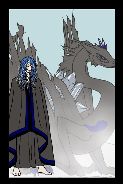 Steed of the Sea-Queen ~ Lorelei and her crystal dragon :)