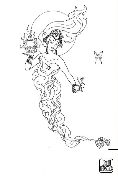Genie Coloring Page By Ashleyholmes