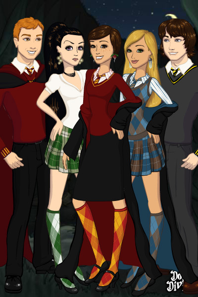 Fred, Violet, Lara, Rose, and Patrick ~ Freddie Weasely, That-Slytherin-Chic Mer