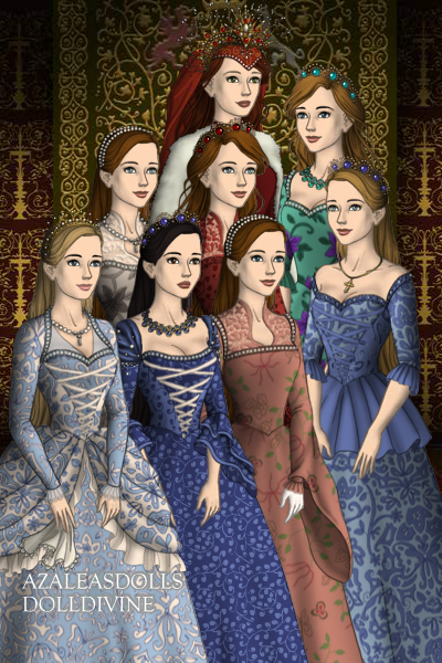 Queen Karen and Her Descendants ~ The Royal Family, primary female line. Q