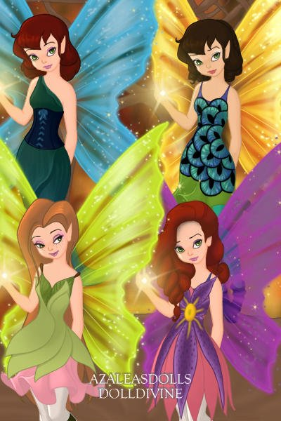Daugthers of Oberia ~ The four Faerie Sisters from my Daughter