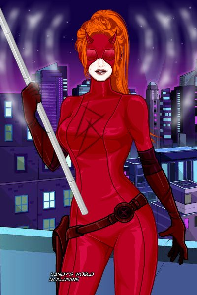Daredevil ~ Mattie Murdock was blinded as a girl, pu