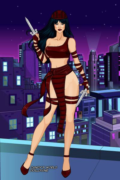 Elektra Natchios (Original Costume) ~ In her original costume.