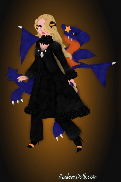 Cynthia & Garchomp ~ (I just realized I forgot the fur trim o