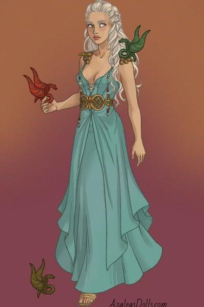 Daenerys Targaryen - Qarth 5 ~ by Lilithmoon22