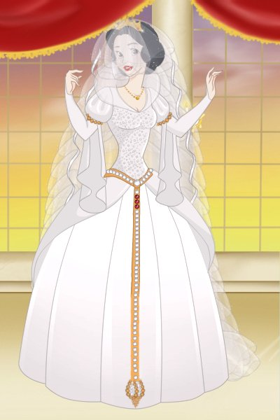 Snow white in her wedding dress by belnika snow white in her wedding dress created for merlinlovers snow white wed junglespirit Choice Image