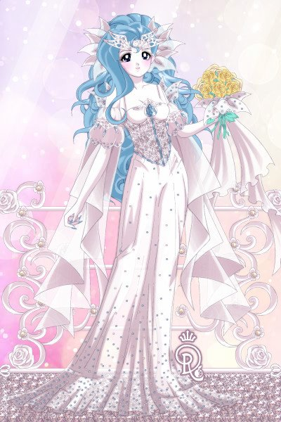 The Blushing Bride ~ My beautiful OC, El'orie, on her wedding