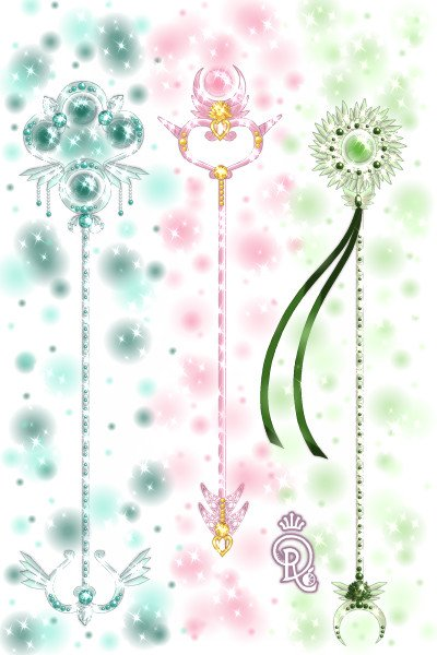 Mage Staff Set 2 -Em ~ Left to right: Astaria's staff, Harmony
