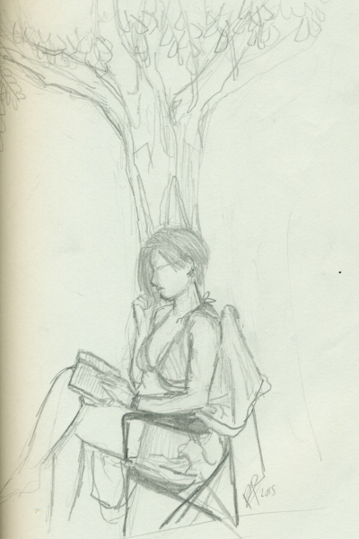 Veronica ~ My friend was reading under a tree and..