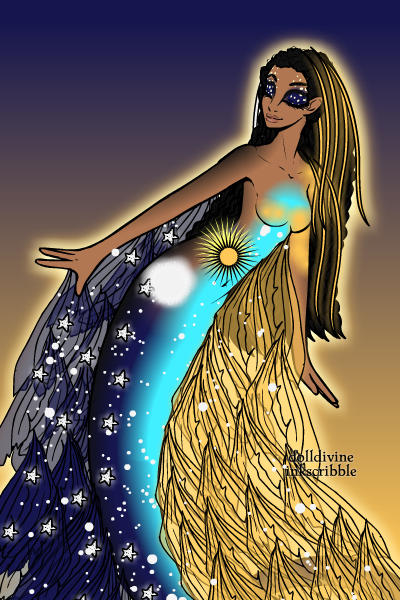 Nut Egyptian Goddess of the Sky ~ I wanted to use a different Dollmaker fo