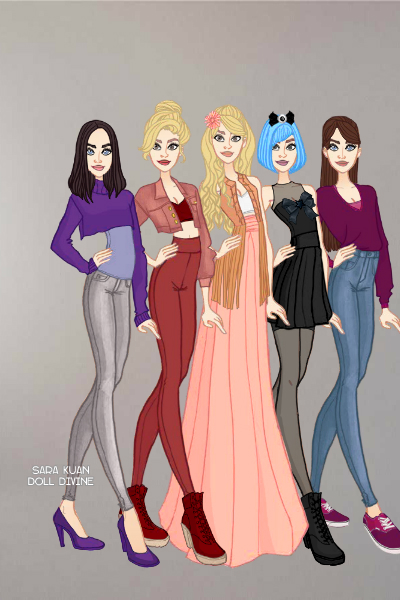 The Irving Sisters (Modern Dress) ~ My imagining of Enia's siblings, if th