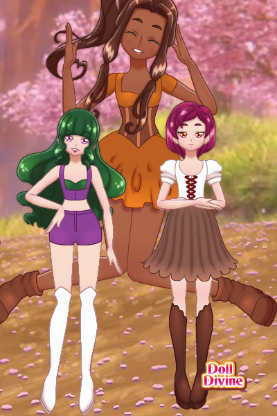 Eudora, Rhia, and Aloprisha ~ Oh, hey, look. Characters from a <a href
