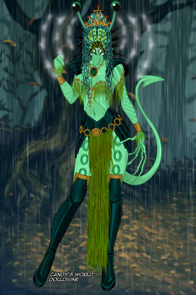 Alien Swamp Queen ~ I made this a while ago and kind of forg