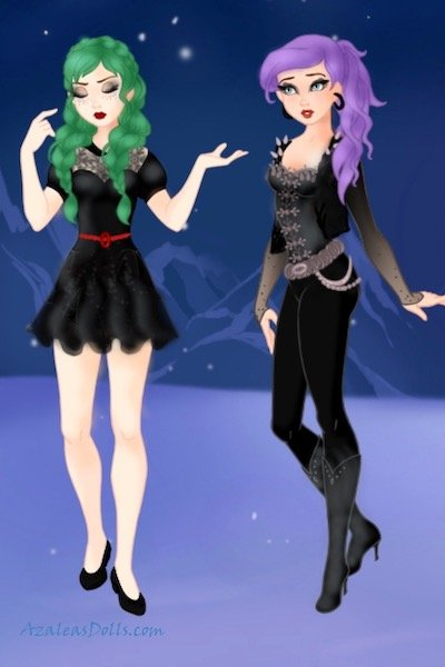 Lileas and Anstice Hyland ~ I thought I'd make a doll of these two--
