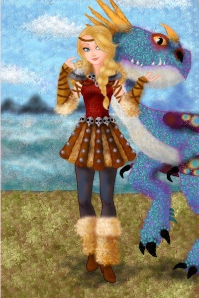 Astrid and Stormfly--for bluesmooth127 ~ I suddenly felt inspired yesterday to ma
