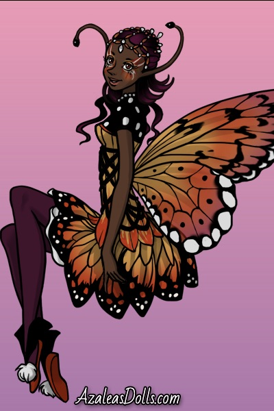 Monarch of the Butterflies on Pink ~
