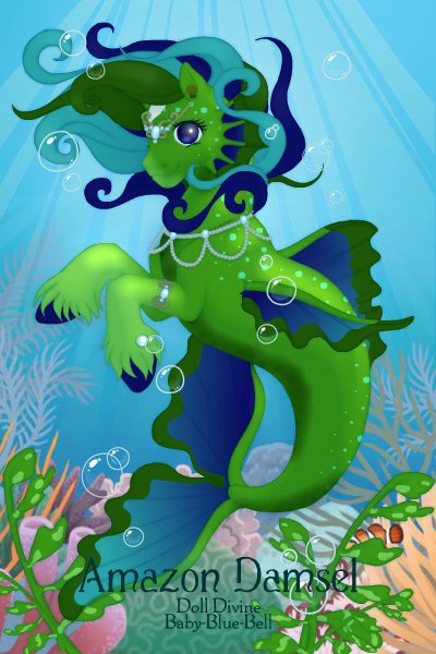 Amazon Damsel ~ She's not a seahorse, but more of a rive