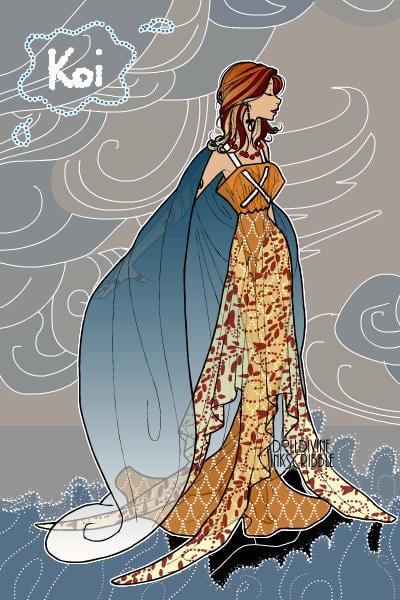 Koi fish inspired fashion by hyper piggie for Koi fish dress