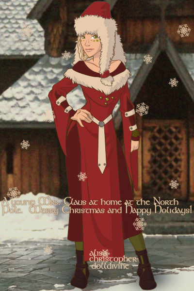Young Mrs. Claus ~ An interpretation of a young Mrs. Claus