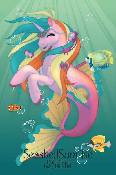 Princess SeashellSunrise ~ This magical seapony can summon a sunris