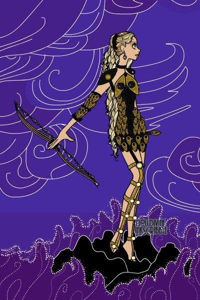 Warrior Woman ~ Made for LisaRae's Erte Elegance contest