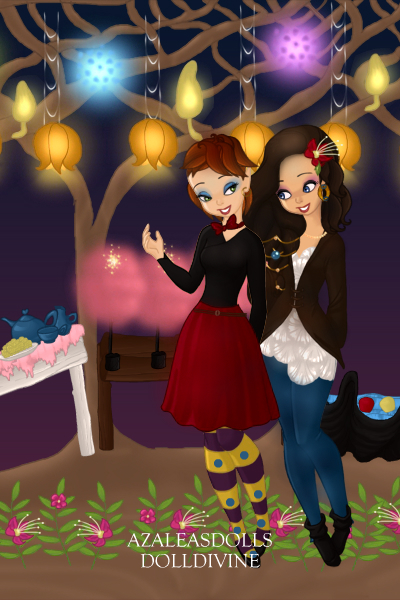 Glinda and Louise at a Carnival ~ They are my new OCs. Glinda is the redhe