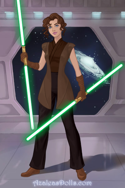 My (female version) brother as a Jedi ~ This is my brother as a female Jedi! #St