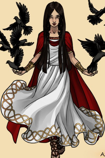 Black Raven ~ Black Raven is one of the θεάς. She