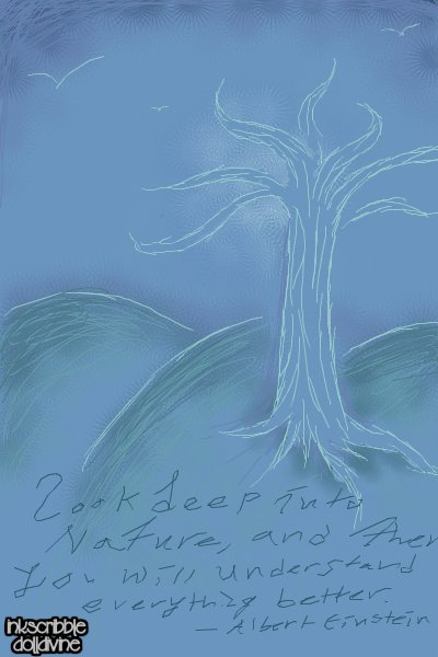 Sketched Hillside ~ It's a picture w/ a #quote<p></p>A quo