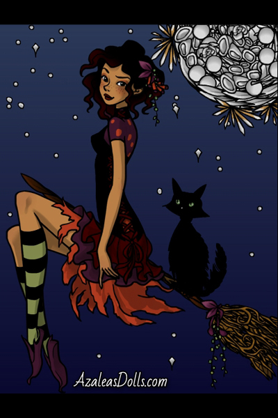 Little Witch ~ A little Halloween doodle, playing with