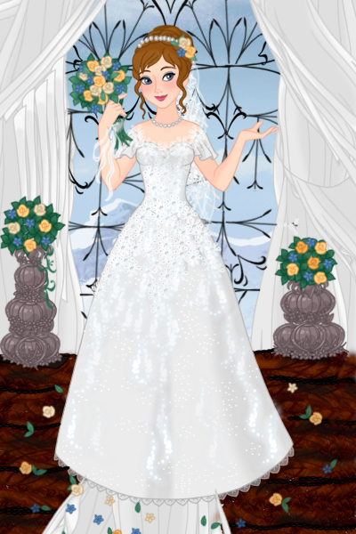 Blue and Yellow Wedding ~ I decided to make an accompanying bride