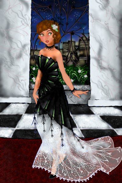 Judith - Black, White & Pop! ~ I was inspired by all the fun dresses fr