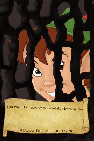 Peter Pan\'s Mugshot ~ He has escaped and is stalking people ag