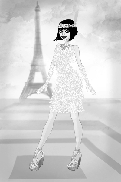 Flapper, circa 1927 ~ It took me quite a while to do this, and