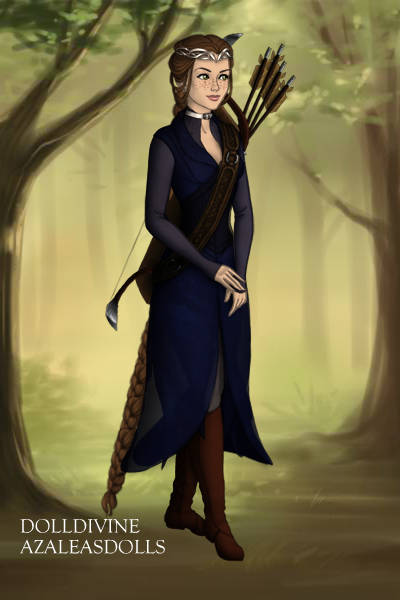 Daughter of Arwen and Aragorn- Warrior b ~ So the background isn't night but oh wel