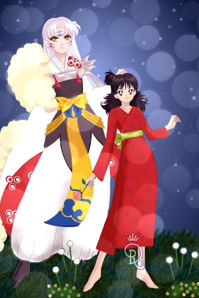 Sesshoumaru and Rin from \Inu-Yasha\ ~ This two are Sesshoumaru, a powerful Gre