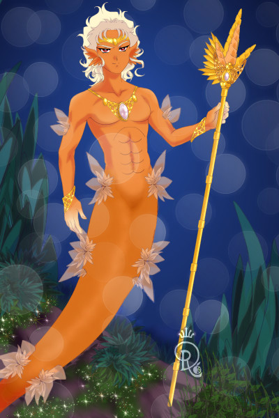 A Warrior Merman ~ This is a warrior merman, although he lo
